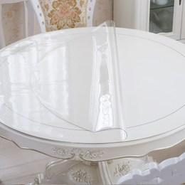 定制圆形PVC防水隔热透明餐桌布桌垫台布磨砂水晶板软质玻璃包邮