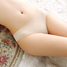 Sexy simple invisible one-piece flesh-colored silky traceless comfortable cotton low-waist beauty thong