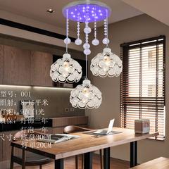 简约现代三头餐厅吊灯餐桌客厅水晶阳台创意个性吧台饭厅餐吊灯具