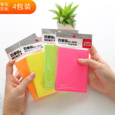 Deli Fluorescent Pepsi Sticky Sticker Creative N Times Sticky Notes Color Striking Writing Note Paper Student Learning Stationery Office Supplies Bookmark Post Home School