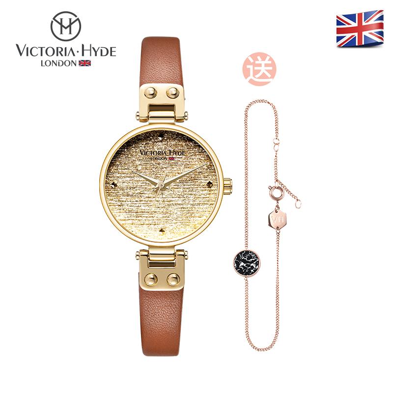 VH.London手表女 个性小表盘防水石英腕表时尚潮流满天星VH30080