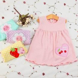 裙子公主裙小孩吊带裙小背心裙女宝宝婴儿0-1-2岁连衣裙夏装纯棉