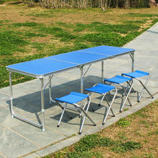 Wangou 徕 Outdoor folding table Picnic simple table stall folding table Exhibition table Folding table Portable