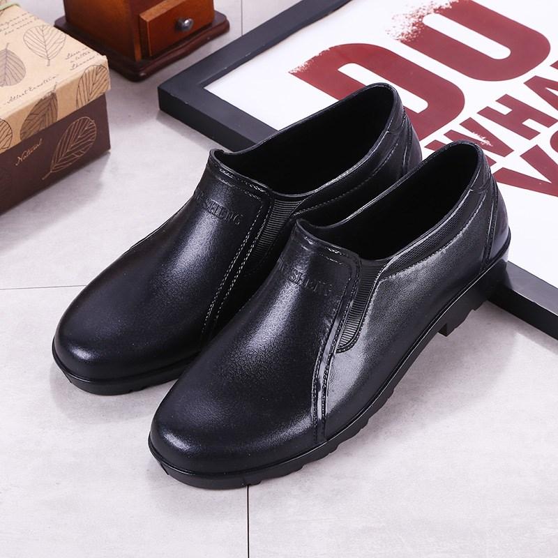 防滑雨鞋雨靴防水胶鞋套鞋水鞋厨师厨房工作男鞋耐磨低帮夏季