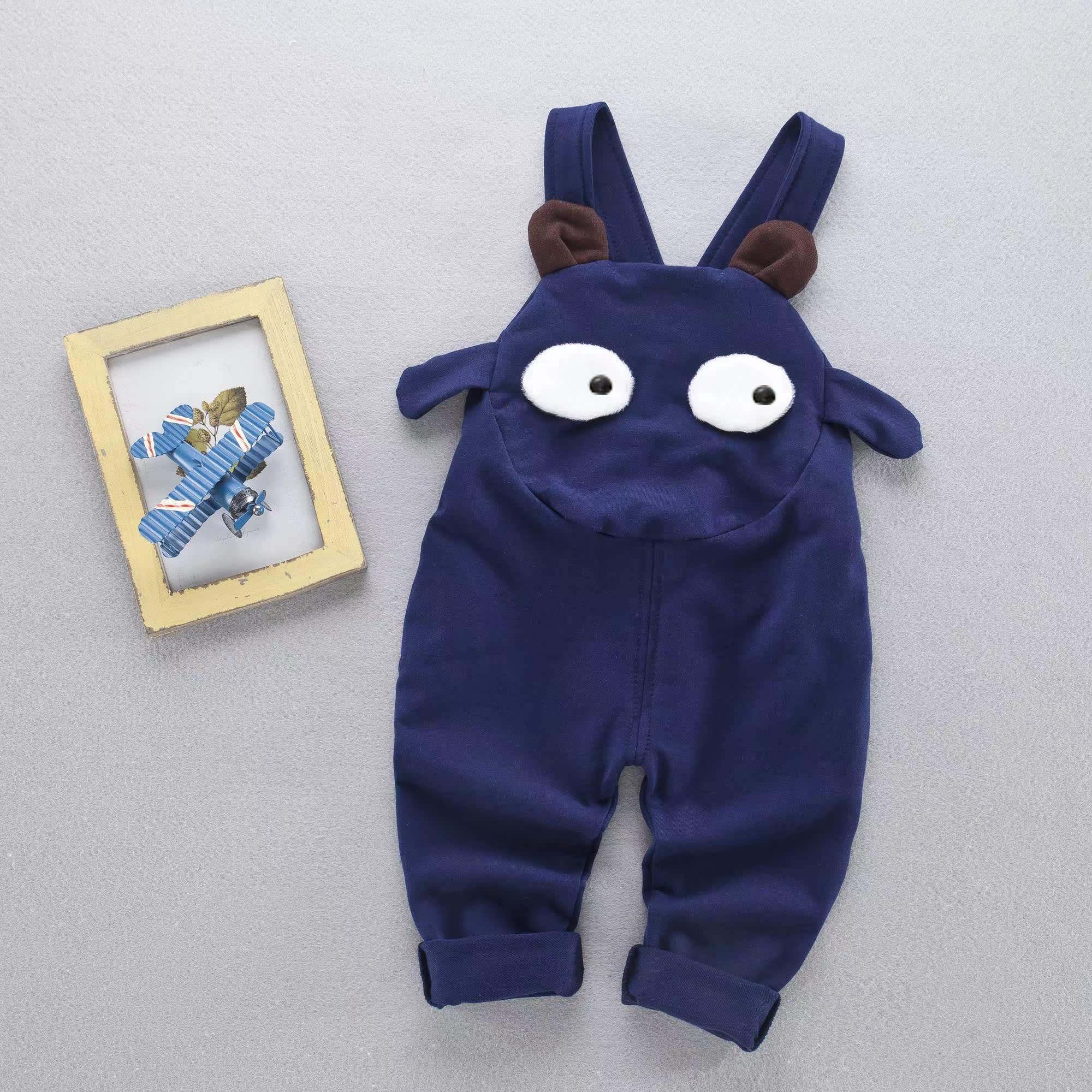 新款男童春装男女宝宝背带裤春秋可开档婴儿连体裤岁图片