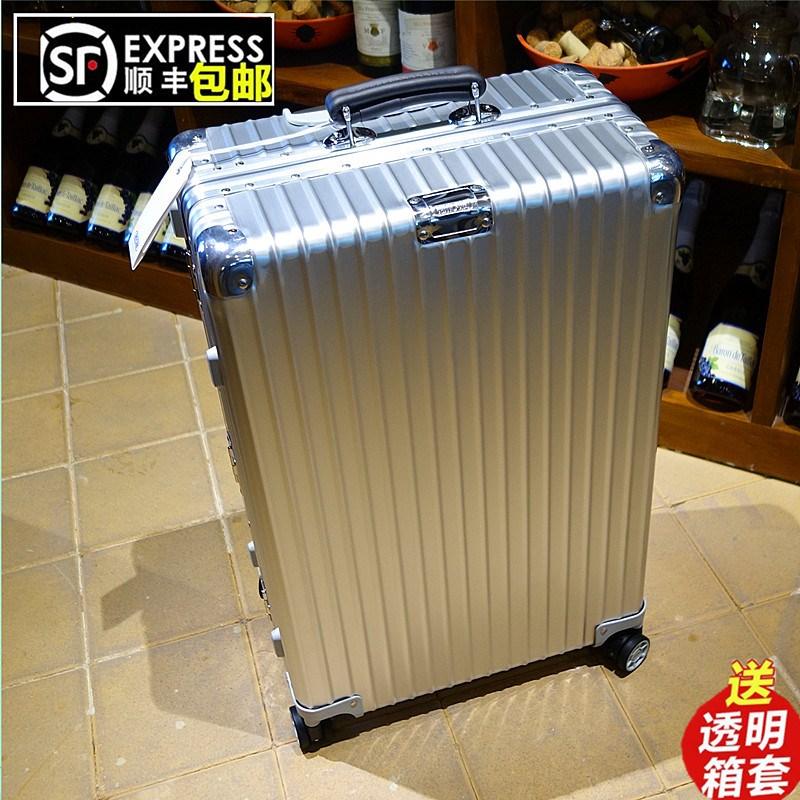 铝框拉杆箱30寸万向轮22金属旅行箱包男女32玫瑰金商务行李箱28寸