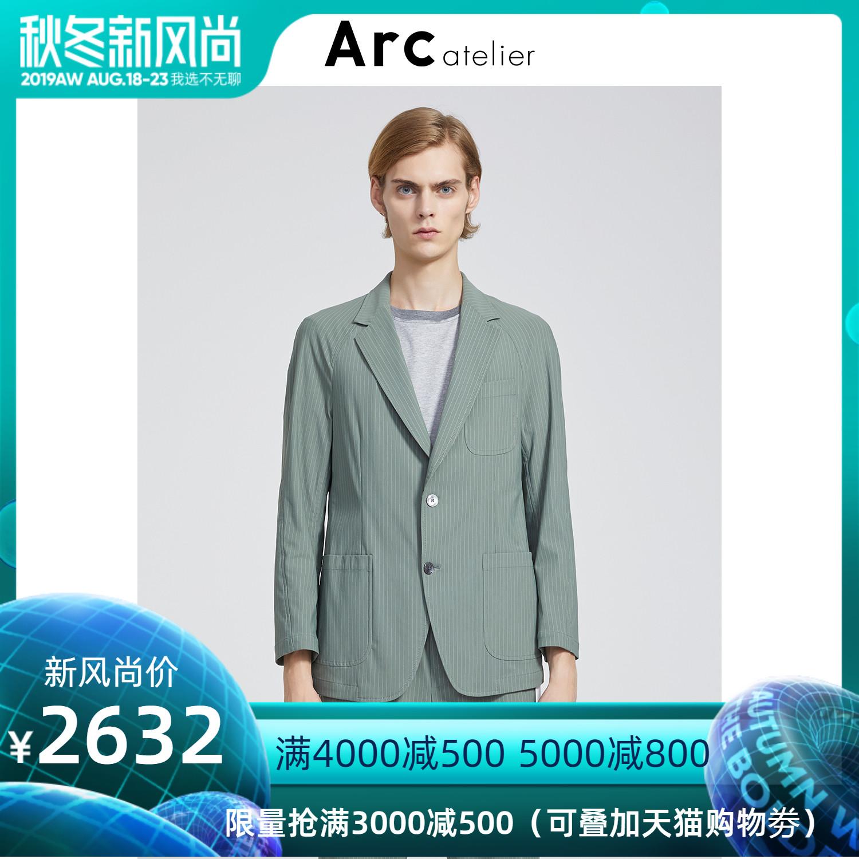 名堂Arc atelier2019春季新品男装条纹色插肩袖西服