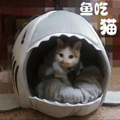 狗窝小型犬猫咪蒙古包猫窝冬季保暖猫窝宠物窝猫屋猫窝 封闭式