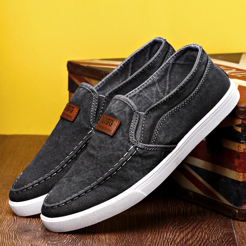 秋季新款加绒保暖老北京布鞋男士休闲棉鞋冬季懒人一脚蹬帆布男鞋