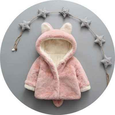 Men and women baby winter coat coat baby child cotton jacket plus velvet thickening one and a half years old boys and girls cotton clothes 0晁