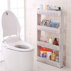 夹缝收纳架厨房卫生间浴室冰箱缝隙置物架可移动间缝整理架落地窄