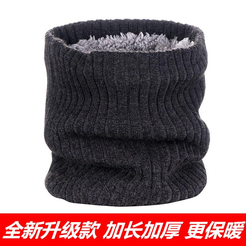 秋冬季套头针织围脖男女士保暖百搭毛线围巾防风加绒加厚防寒脖套