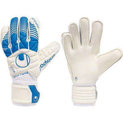 구매 Uhlsport Uxbow 축구 골키퍼 장갑 SUPERSOFT BIONIK White Blue