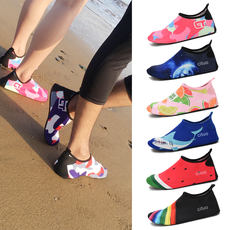 Beach socks shoes men and women diving snorkeling children wading upstream swimming shoes quick-drying non-slip cut barefoot patch shoes