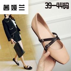 茜娅兰大码女鞋41-43一脚蹬懒人鞋方头软底胖脚特大号女式单鞋 40