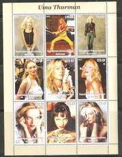Congo stamp / full sheet / sheetlet / sheetlet-kill Bill female star Uma Thurman