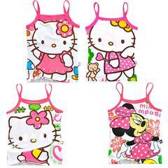 卡通儿童装夏装 小熊女童吊带裙 女孩吊带衫 多色女童纯棉背心