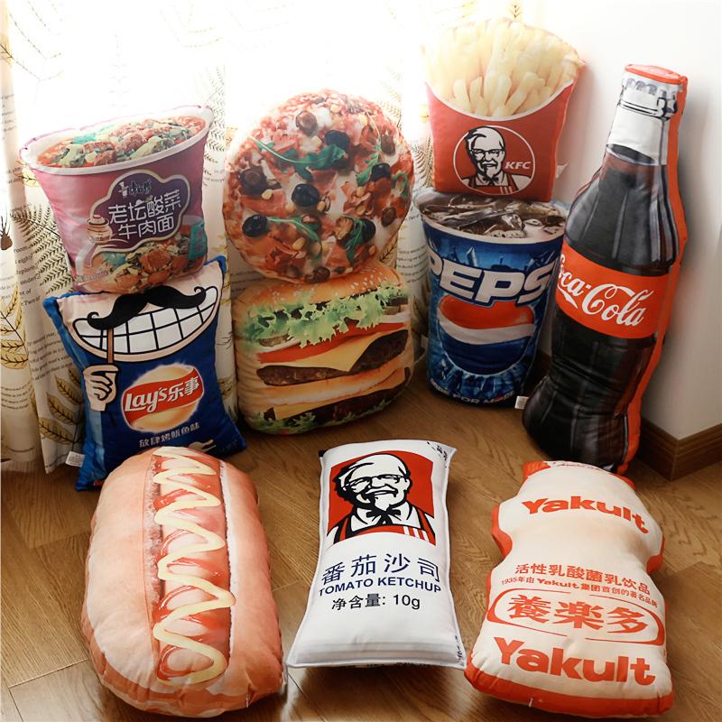 仿真薯条零食抱枕靠垫创意毛绒玩具网红搞怪男生女友闺蜜节日礼物