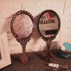 专用手柄化妆 带后视镜理发店美容美发后背用塑料 发廊镜子方后镜