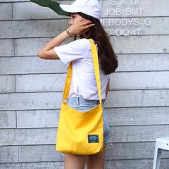 厂家直销定做女款休闲帆布斜挎包 纯色单肩包大容量购物袋