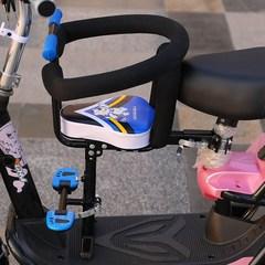 电动自行车宝宝座椅全围踏板小孩电摩电瓶车儿童安全椅前置折叠椅