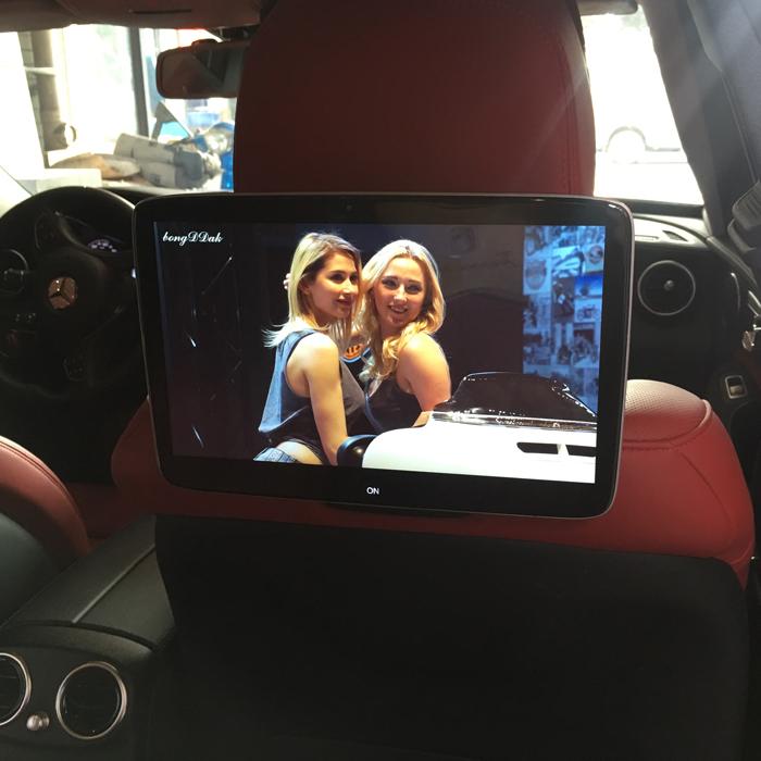 奔驰E300L后排娱乐系统E200新C200L车载电视V260后座头枕屏显示器