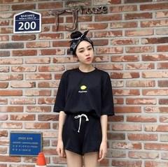 夏季套装女学生两件套2018新款韩版宽松短袖短裤休闲运动服潮夏天