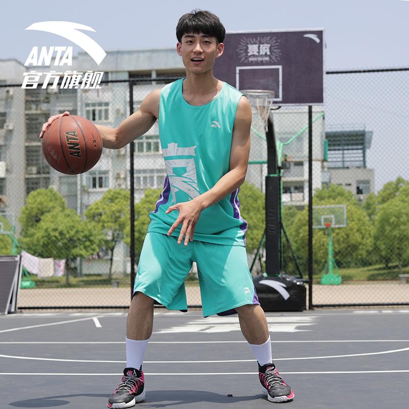 安踏要疯篮球套装男2019春夏新款汤普森KT系列篮球比赛服运动套装