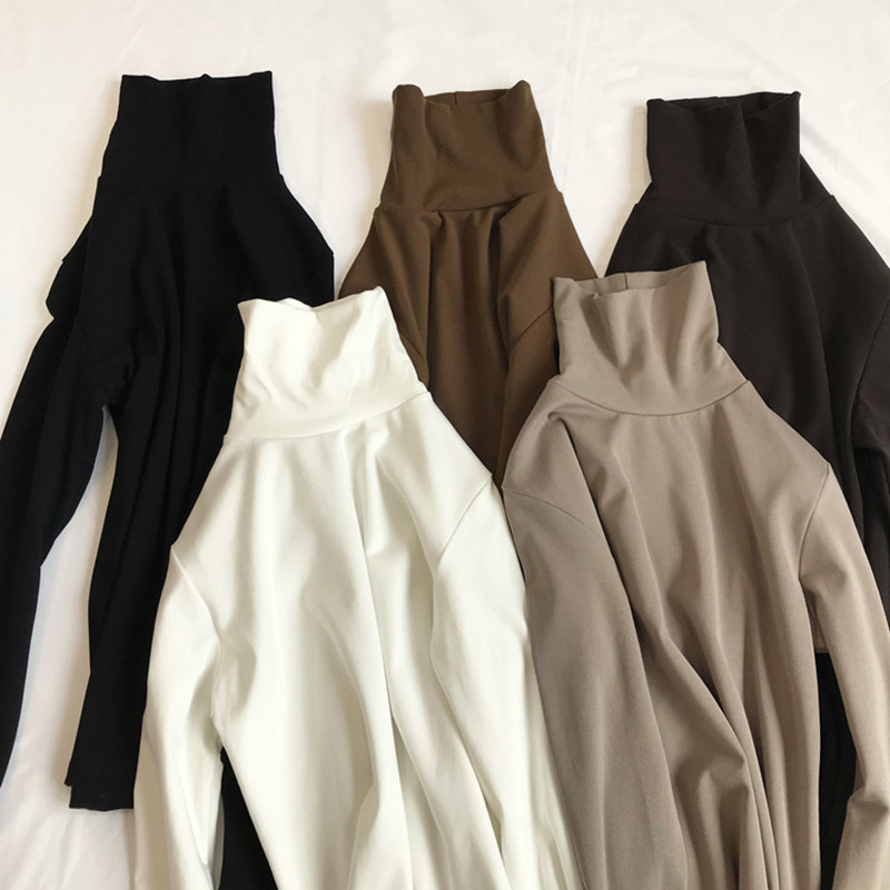 2018新款秋冬尹淑怡同款上衣服金丝绒加绒长袖t恤女堆堆领打底衫