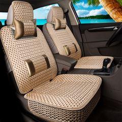 四季通用汽车座垫 车内用品五件套全包座椅坐垫 全套装饰布艺座套