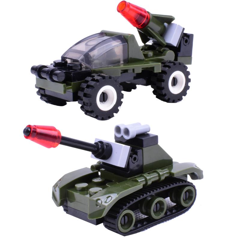 坦克积木 拼装6-10岁男孩兼容乐高导弹车玩具学生小飞机动物模型