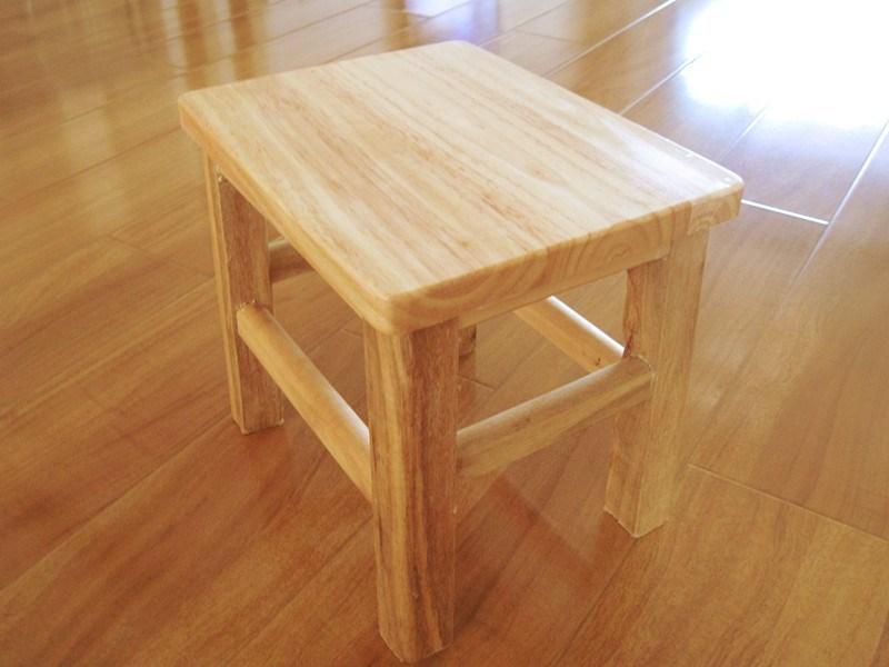 木制矮凳简易家具家用橡木凳子实木小凳子小方凳木小矮凳登凳櫈橙