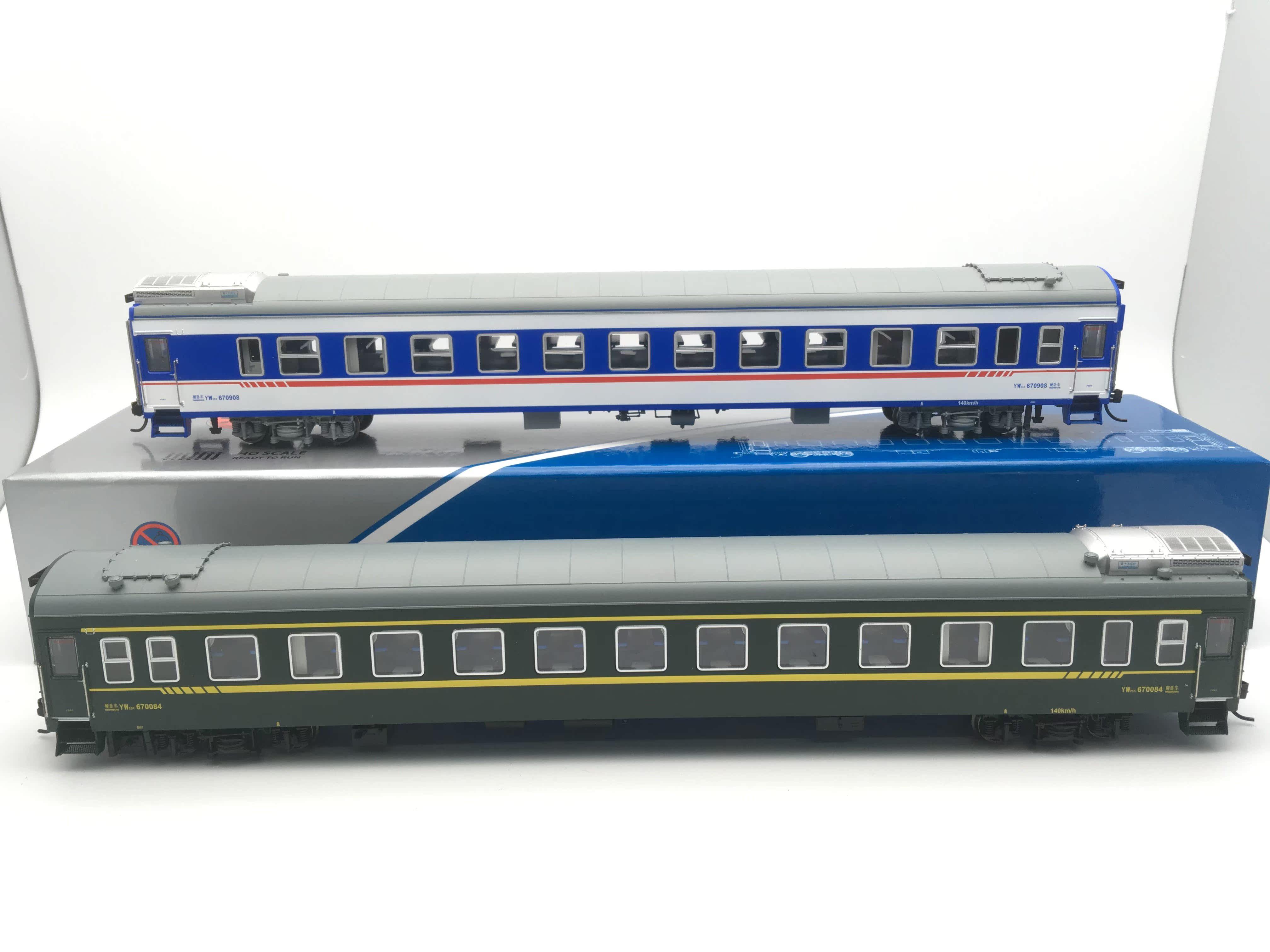 n27火车模型 1/87 ho 硬卧25k yw25k型空调客车 带车灯