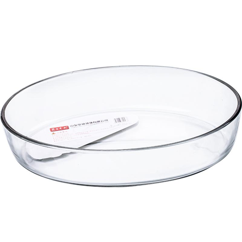 果沙拉烘培盘烤盘椭圆形钢化玻水鱼盘菜盘微波炉烤箱璃