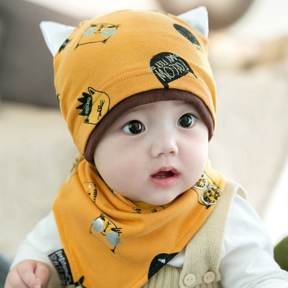 Spring and Autumn Cute Princess Female Baby 12 Months Baby Hat Autumn and Winter 1 Year Old Boy Baby Child 0 Tide 6 Autumn 3