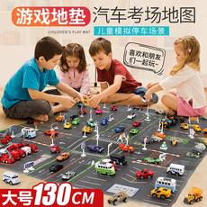 Large children's city traffic scene map toy car play car artifact parking lot crawling game mat