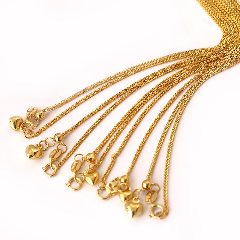「月神索菲亚」肖邦链可调节桃心款 18K黄金项链 锁骨链毛衣链女