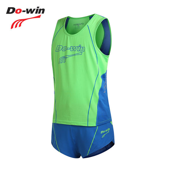 Duowei sports track and field suit 2018 spring and autumn new men and women training clothes can be printed sports set 83403