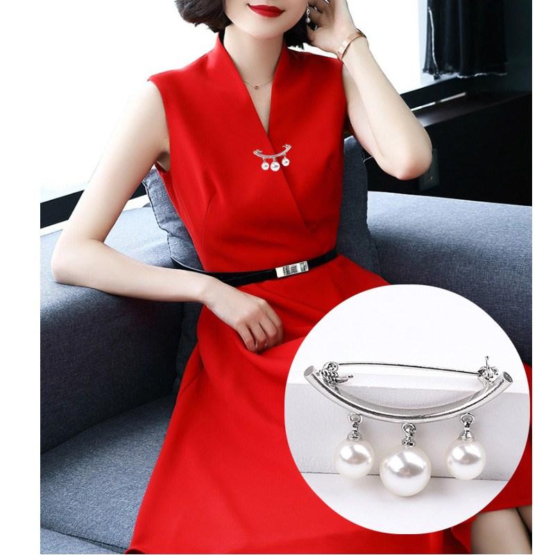 新款巴洛克风格时尚珍珠胸针胸花开衫毛衣领口小别针扣服装配饰女
