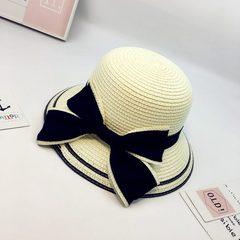 亲子帽子母子母女夏天出游防晒遮阳帽草帽儿童韩版百搭女童沙滩帽