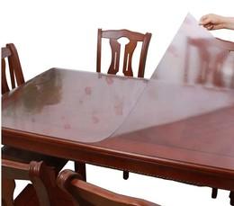 4大尺寸超透明PVC铺地毯软水晶板塑料桌布台布桌垫(不泛黄)包邮