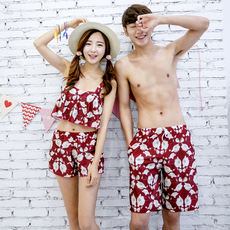 Couple models swimsuit suit holiday spa small chest gather conservative bikini three-piece beach swimsuit female