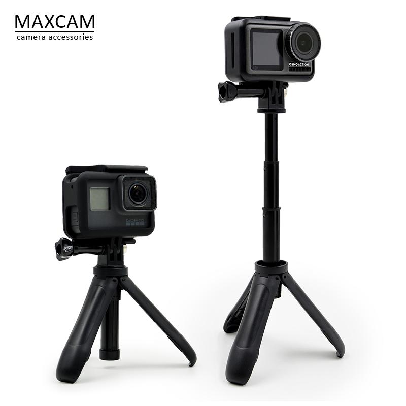 适用大疆运动相机OSMO ACTION三脚架自拍杆支架手柄gopro小蚁配件