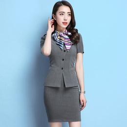 酒店工作服春夏装女领班前台收银导购经理服务员空姐制服职业套装