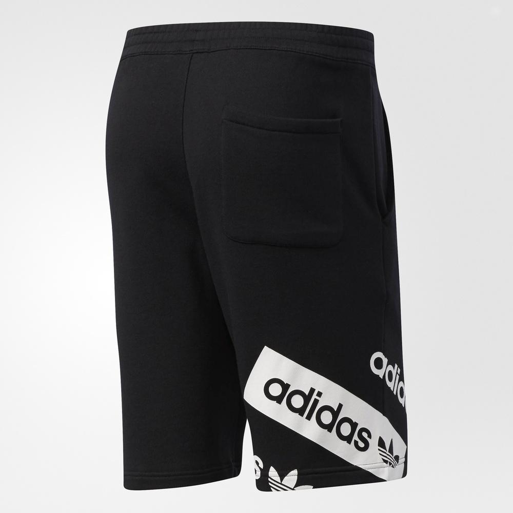 adidas 阿迪达斯 三叶草 男子 短裤 黑 bq0917