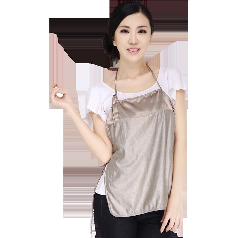 婷美抗电磁波辐射孕妇装康美婷银纤维肚兜围裙内衣薄款2018新款