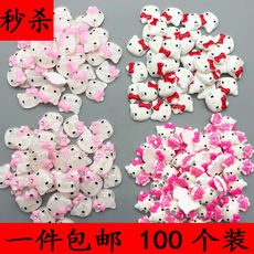 A package of 100 cartoon resin animal patch jewelry accessories material diy hairpin