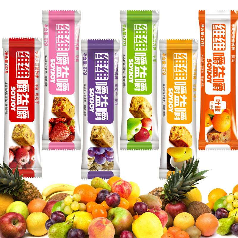 维维嚼益嚼水果大豆营养棒 代餐棒soyjoy 5口味