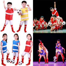 The 8th Xiaohe style our football dream dance costumes props clothing children's modern dance performance clothing