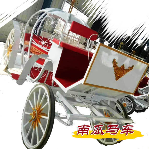 Special Pony Car Wedding Pumpkin Carriage Outdoor Sightseeing Touring Carriage